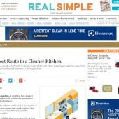 Seo-tekst om køkkenrengøring på Real Simple